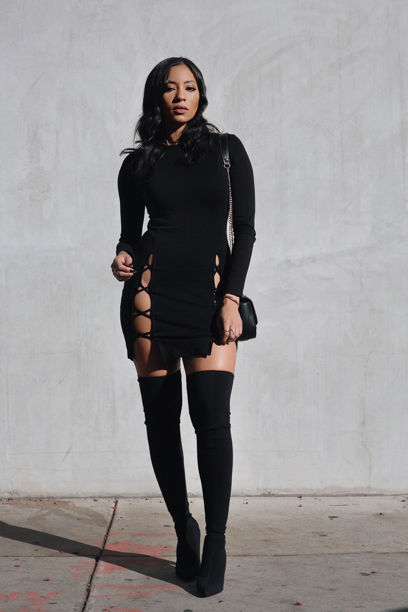 Little Black Dress, Big Black Boots – HangItUpLA